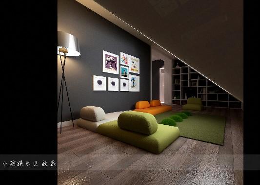 越秀街现代简约风格三居装修效果图