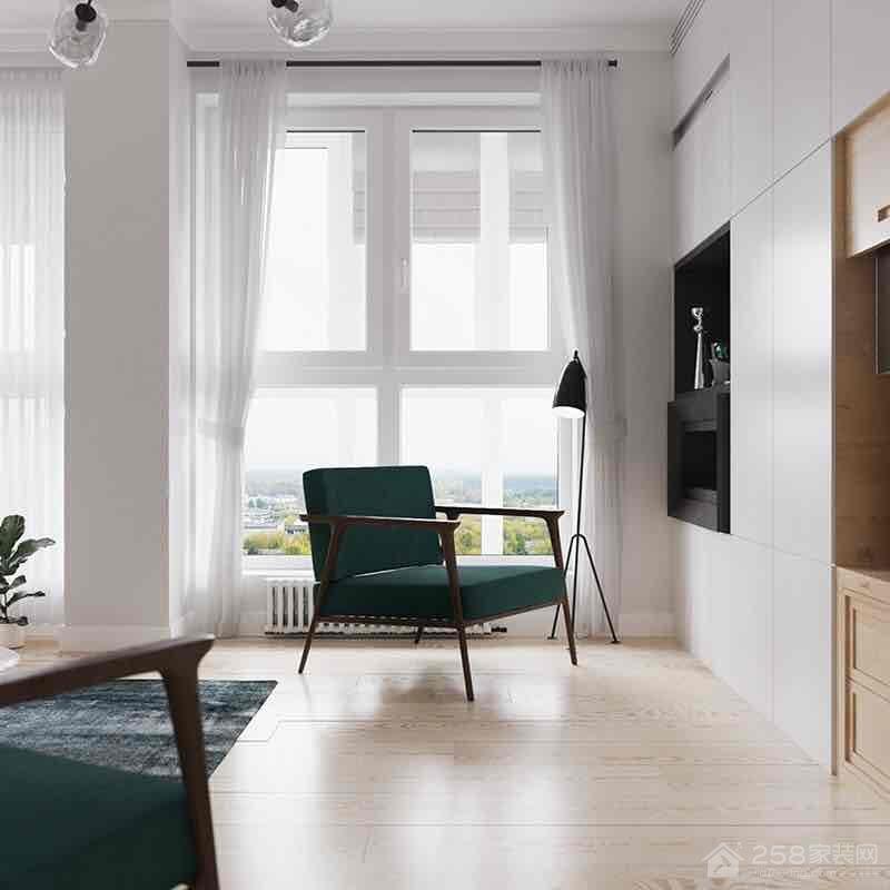 百瑞景北欧风格三居家装效果图