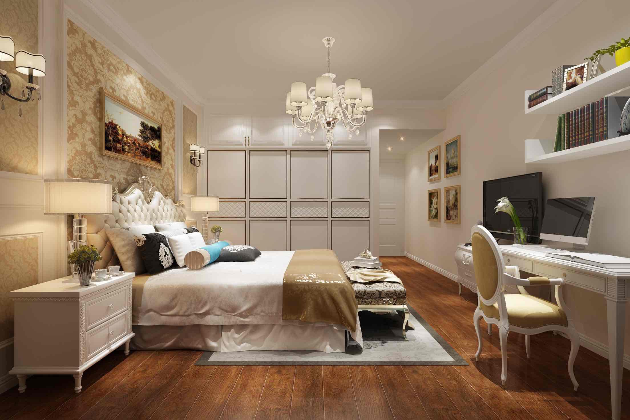 中大青山湖东园四房两厅160平简欧家装效果图
