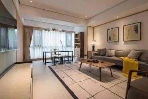 安居小区新中式二居家装效果图
