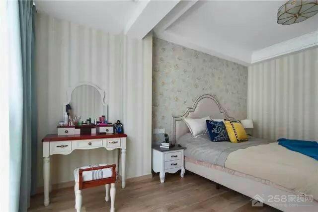 乐尚城现代小美式三室一厅家装效果图