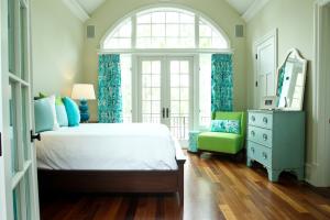 炎炎夏日,蓝色调卧室给你带来一丝凉意!