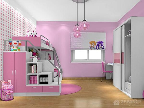 粉白儿童房
