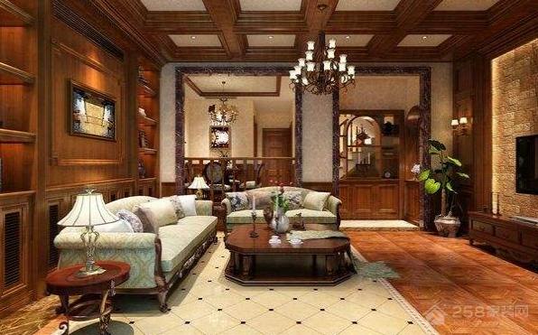 美式别墅客厅怎样装修?美式别墅客厅装修效果图分享!