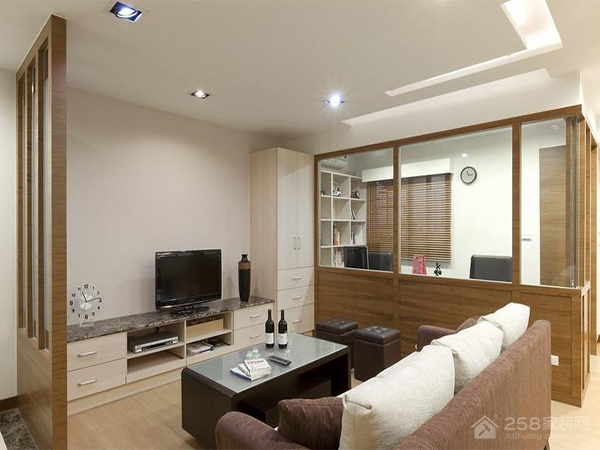 长富小区98平暖意简约三居装修效果图