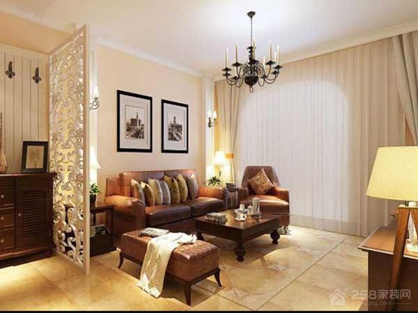 宝石花园美式风格二居装修效果图
