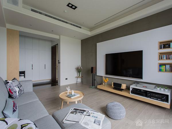 中天金海岸三居室现代简约风装修效果
