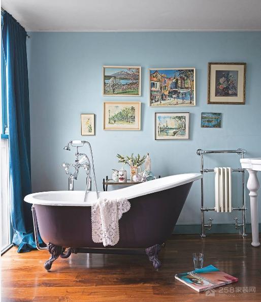 这种维多利亚风格的浴室,真的很洋气