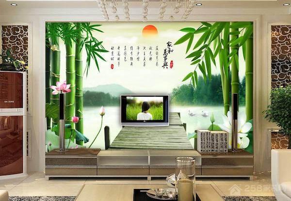 中式电视背景墙的案例赏析