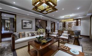 300㎡超大新中式别墅,奢华有气质