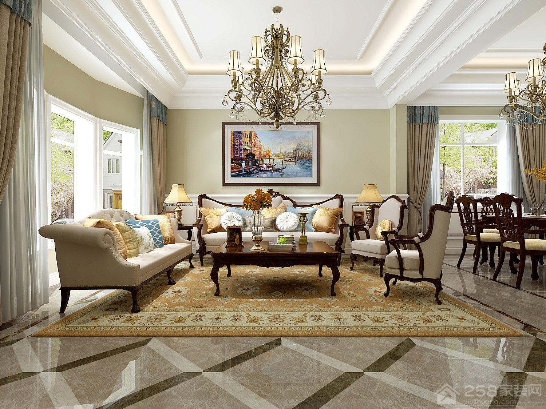 300㎡的美式风格别墅,豪华装修绝对够大气