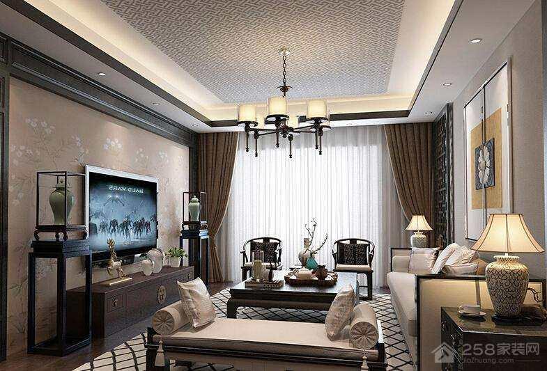 新中式客厅吊顶的特点,新中式客厅吊顶如何设计