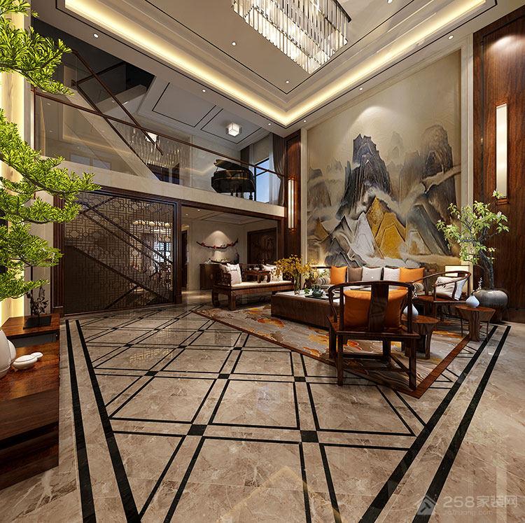 自带家庭影院的中式别墅,400㎡的三居室只花了38万