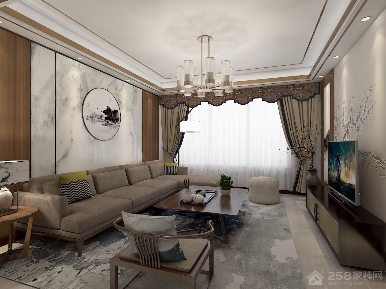 120㎡现代中式风格,三代人的气质居住空间