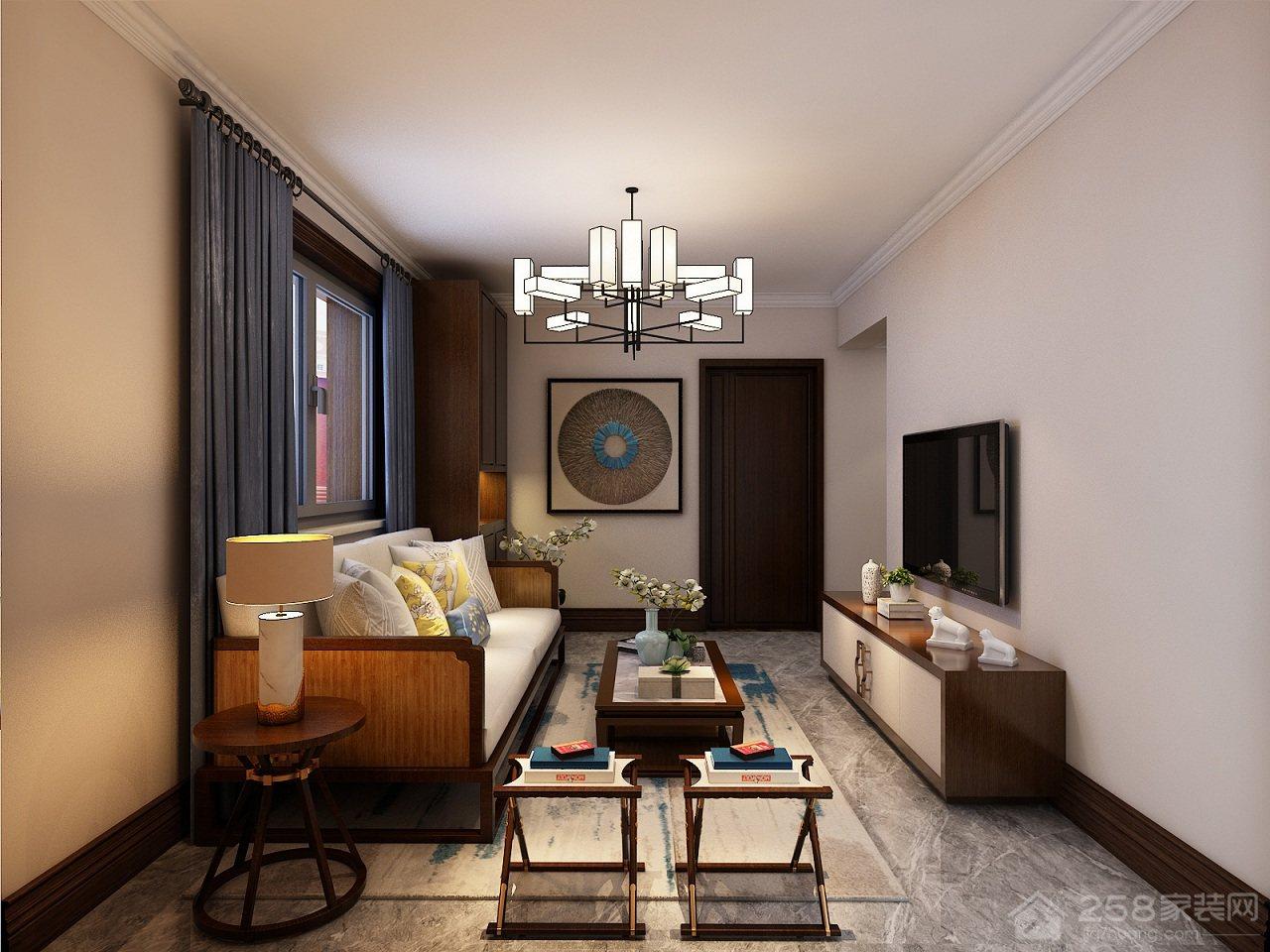 在78㎡二室一厅里,中式风格是如何装修的?
