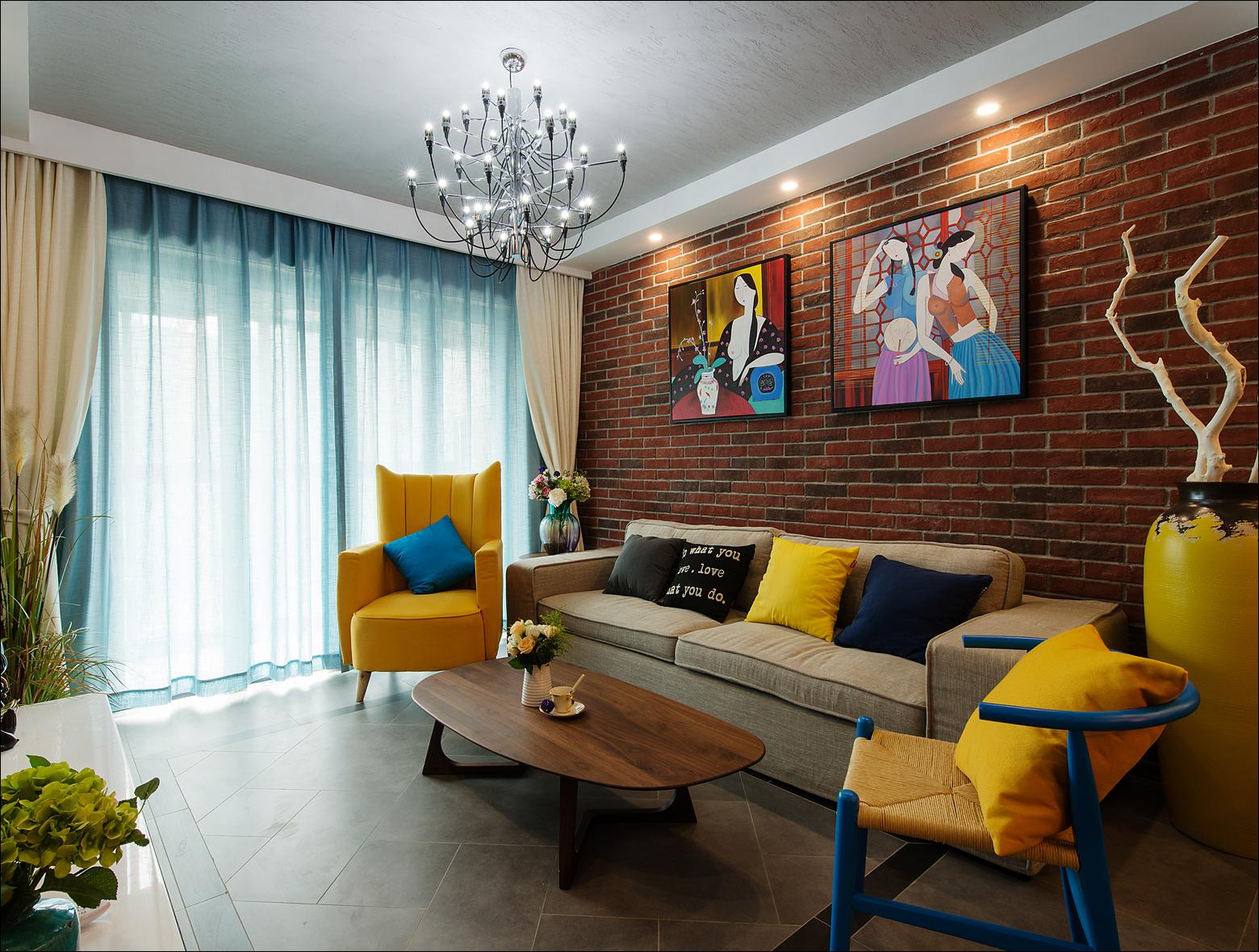 唐家沙小区北欧风格三居装修效果图