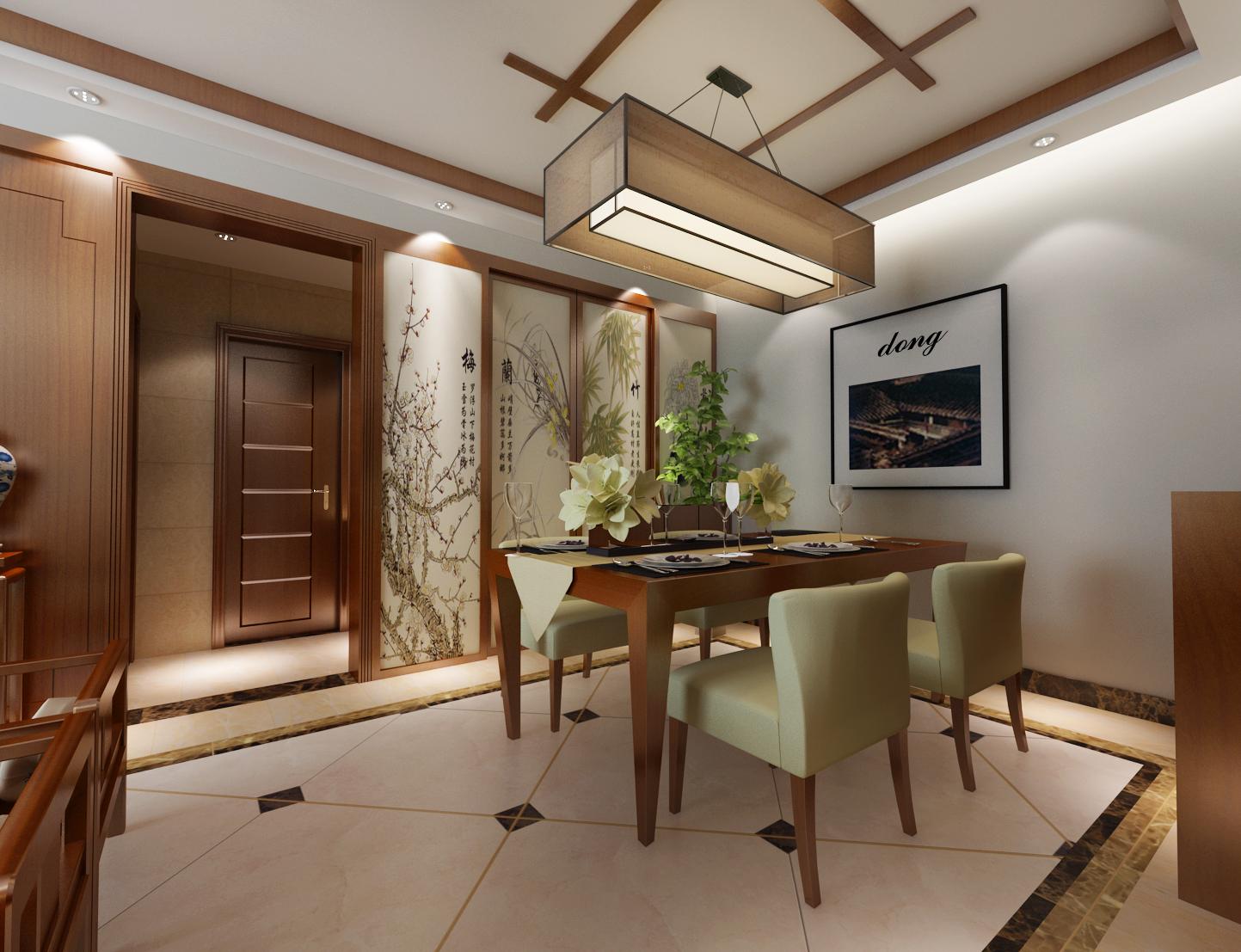 七彩云南幸福里中式二居装修案例