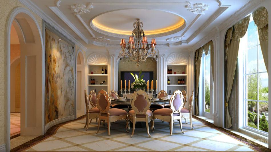内纳帕别墅550㎡欧式装修案例