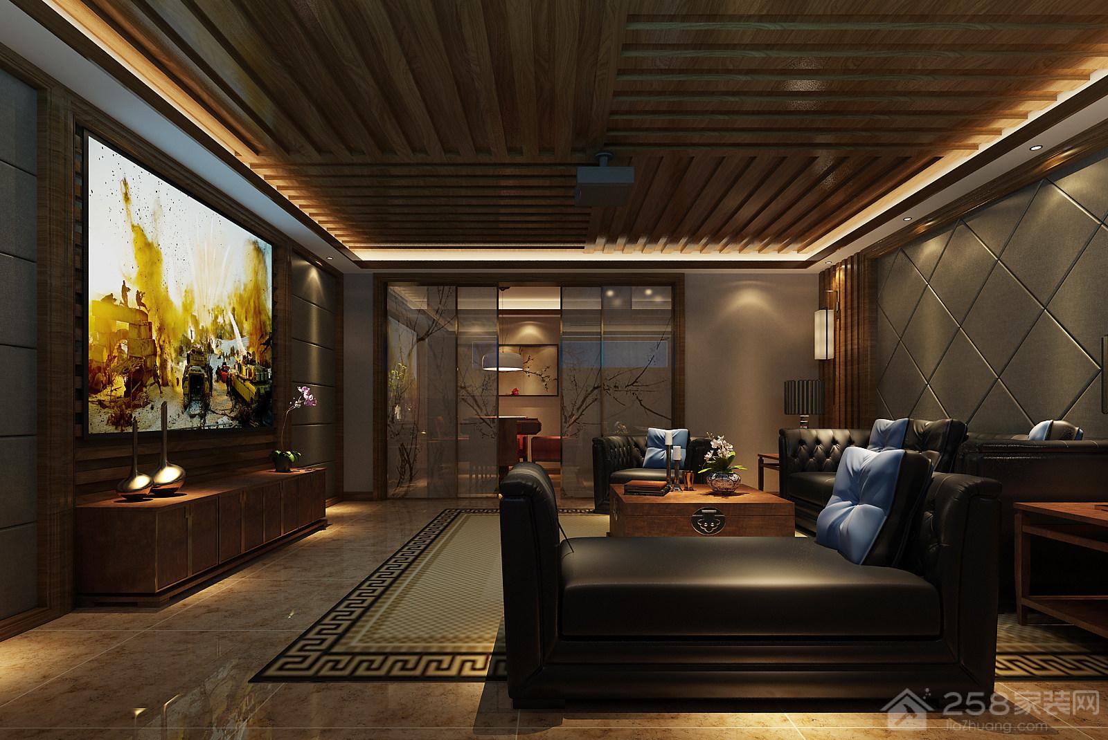 果林湖畔现代中式别墅家装设计