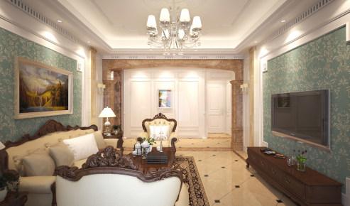 凯佳国际公寓简欧装修设计