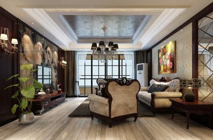 御珑湾新古典二居装修设计
