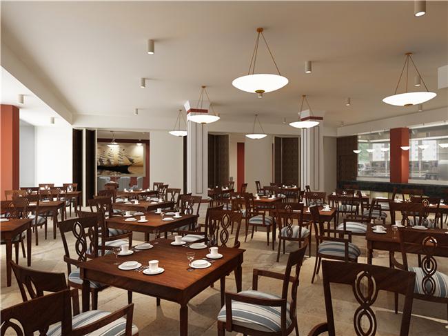 橄榄树酒店中式装修效果图