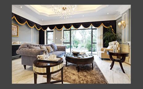 青浦西郊别墅美式装修案例