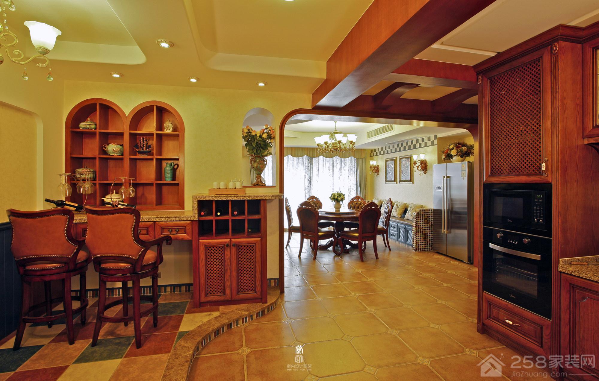 嘉和苑美式三居室效果图