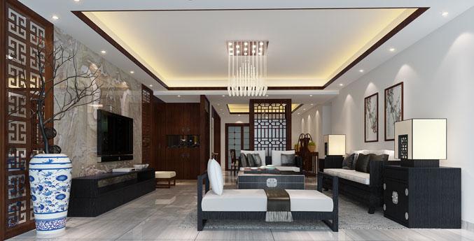 万海公寓中式装修效果图