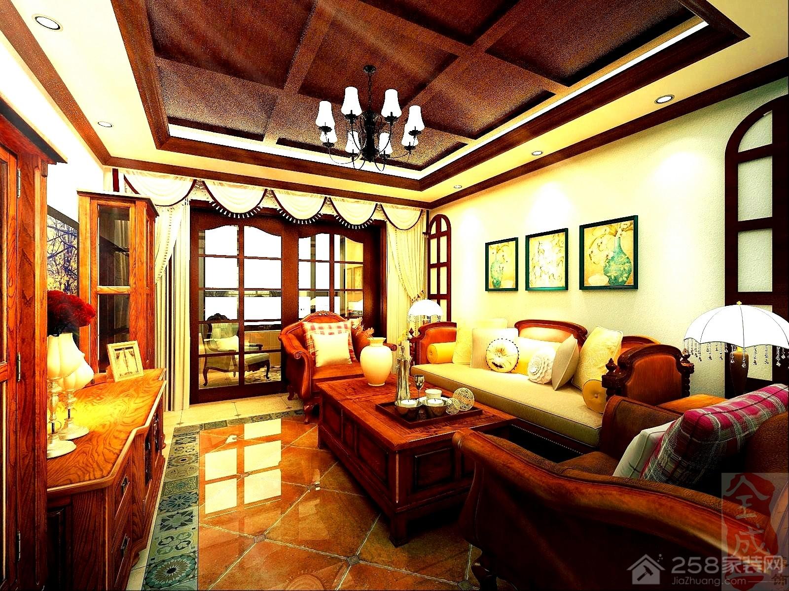 东方瑞园美式四居室装修