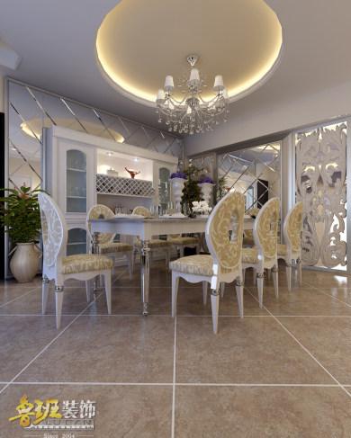 和谐世界欧式三居室装修