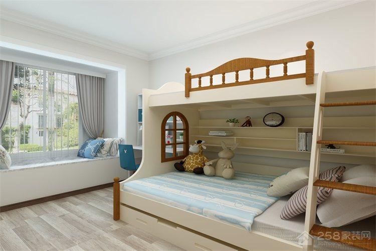 欧式儿童房高低床装修效果图欣赏