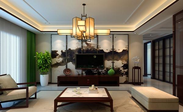 丽景尚城中式装修效果图