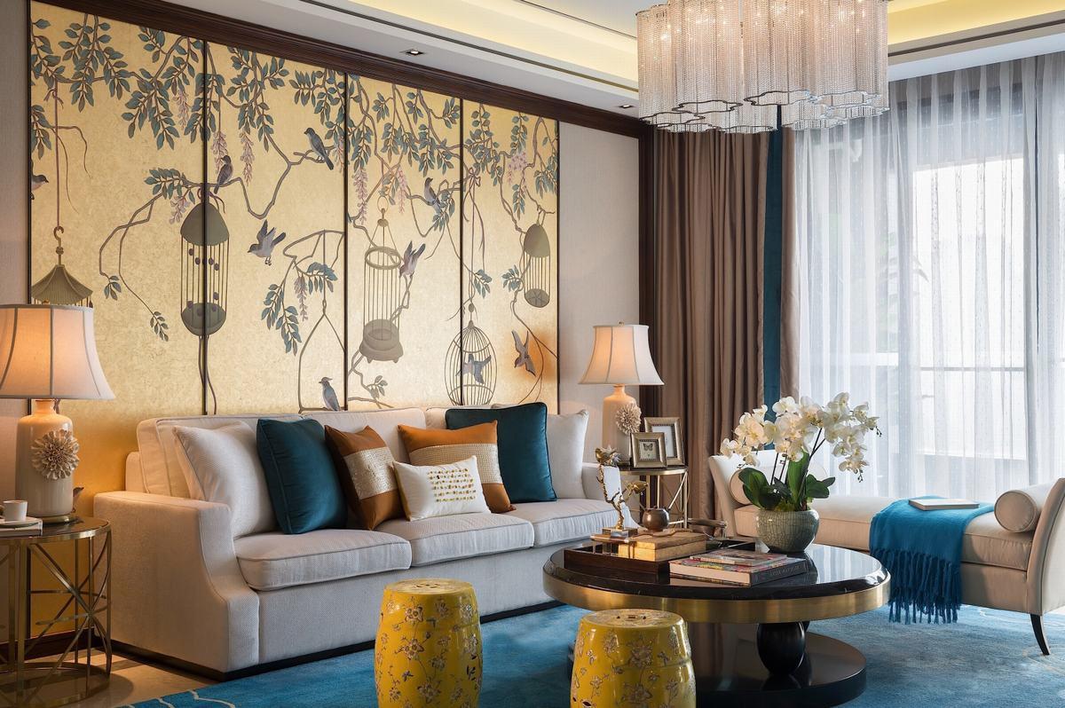 红枫林现代新中式三居室装修效果图