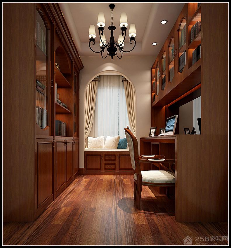 华润橡树湾三居室美式效果图