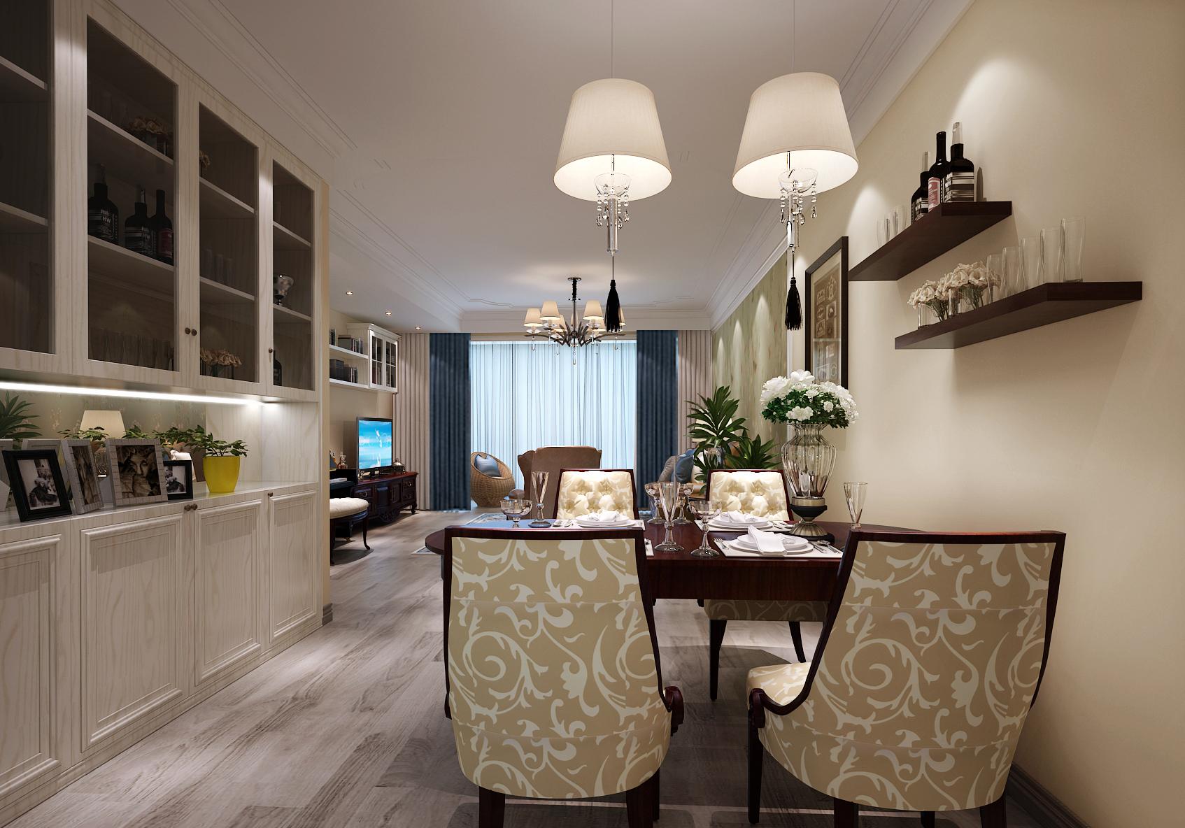 棕榈泉国际公寓美式效果图
