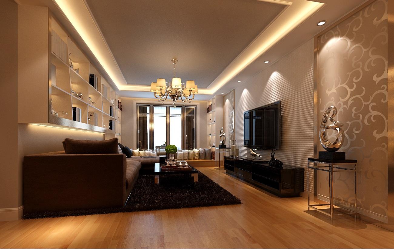 新华联家园三居室现代简约装修案例