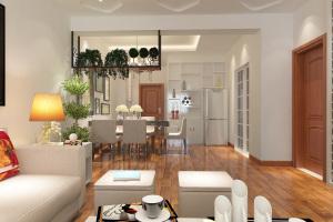 世纪丽都三居室简约家装效果图