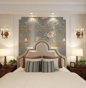 万瑞景园三居室美式家装效果图