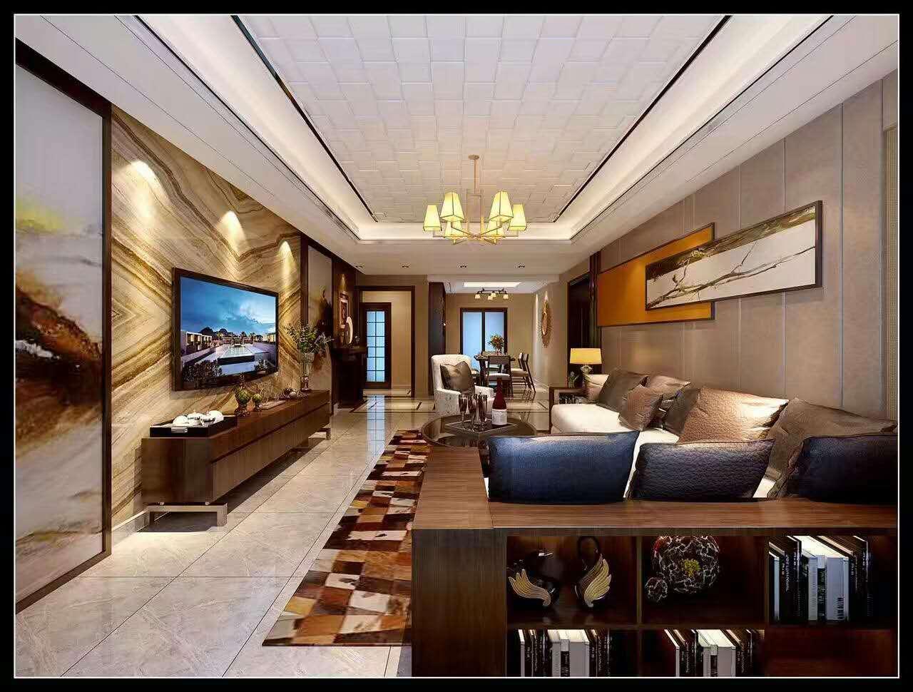 中式四居室装修案例