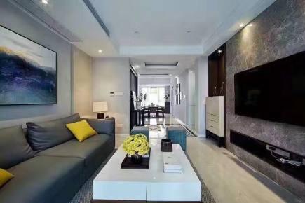 湖滨公寓三居室现代简约效果图