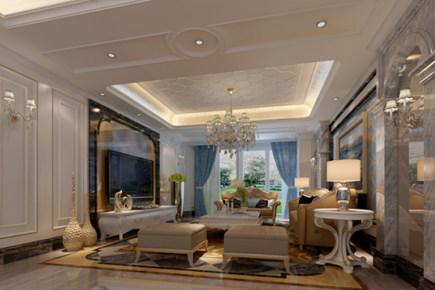 保利紫金山350㎡简欧风格复式楼