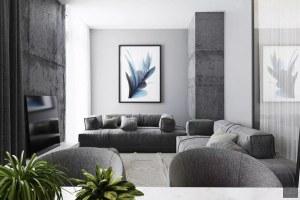 嘉恒广场二居室北欧风格效果图