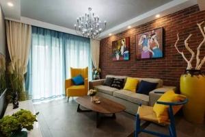 水乡华庭二居室中式家装效果图