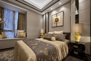 中式三居室装修案例