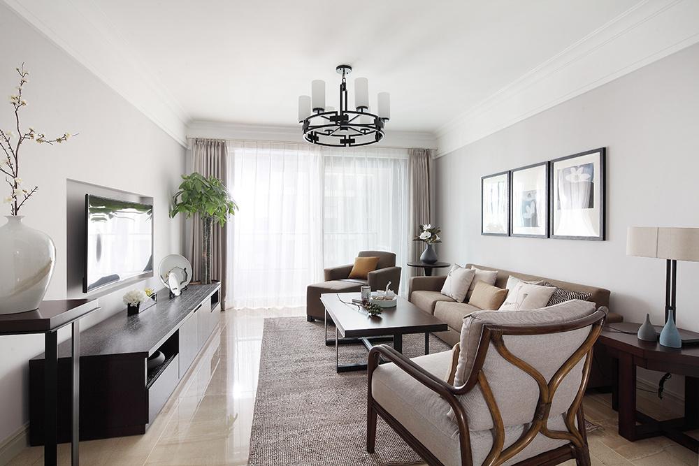 海星家园100㎡两房两厅简约装修