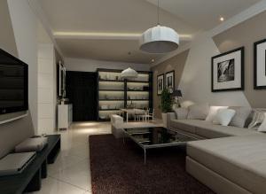 120平米现代简装现代简约风格三居家装效果图