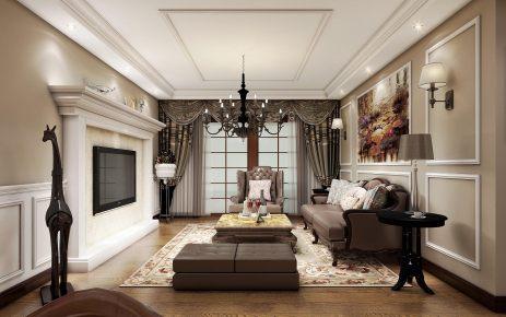 中建国熙台136平美式风格方案设计家装效果图