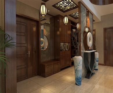 紫薇永和坊285平米新中式风格家装效果图