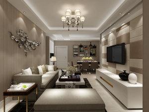华润海中国四期现代简约风格二居家装效果图